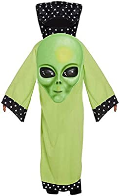 HENBRANDT Infantil Verde Jumbo Cara Alien Marciano Disfraz de ...