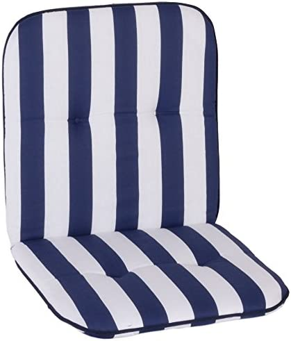 Gartenstuhl-Kissen Almohada Cojines para sillas de jardín Respaldo bajo Rayas Blancas Azules: Amazon.es: Jardín