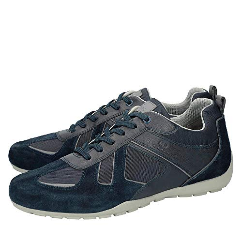 scarpe U923fd Da scarpa Ravex Uomo Ginnastika Geox traspirante Stringata scarpe signori Sportive Scarpe Sportivi basso Sneaker Cosa scarpe sneaker Dunkelblau 5Xw40qqS