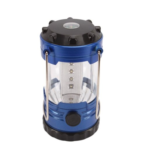 Leegoal 12 LED Portable Super Bright Deluxe Camping Camp Lantern Light Lamp with Compass,Black & blue