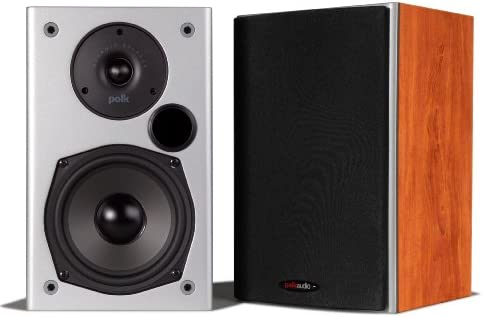 Polk Audio M10 Bookshelf Speaker Cherry-Pair