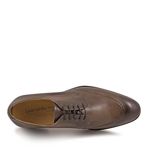Leonardo Shoes Homme 4866MONTECARLODELAVETAUPE Marron Cuir Chaussures À Lacets vqHXeyMD