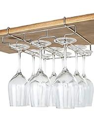 Charmant Bafvt Wine Glass Holder   3 Rows Stemware Rack Under Cabinet   304  Stainless Steel Hanger