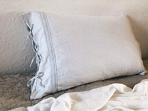Linen Pillowcase. Stonewashed. Ties closure. Twin Xl Full Double Queen King. All Sizes. Natural Bedding. Comforter. Eco friendly. HANDMADE. FREE SHIPPING.