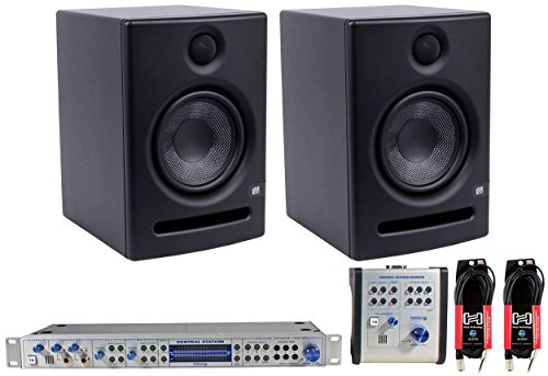 2x Presonus Eris E5 Studio Monitors+PRESONUS Central Station+Remote +FREE Cables by PreSonus