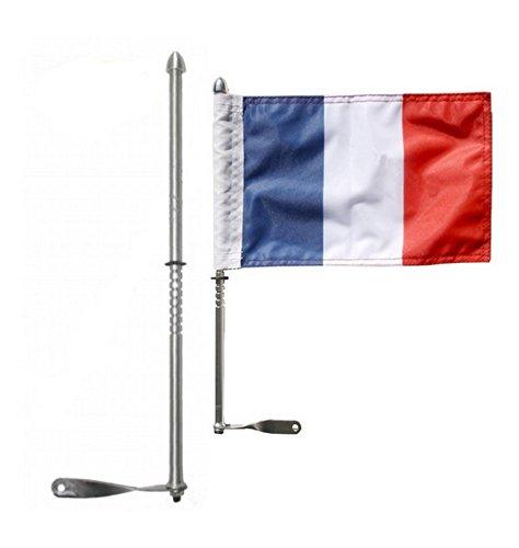 Amazonfr Mat Support Drapeau Noir Ou Chrome Pour Moto Trike - Mat porte drapeau
