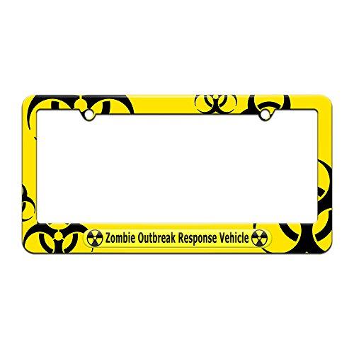 license plate frame biohazard - 3