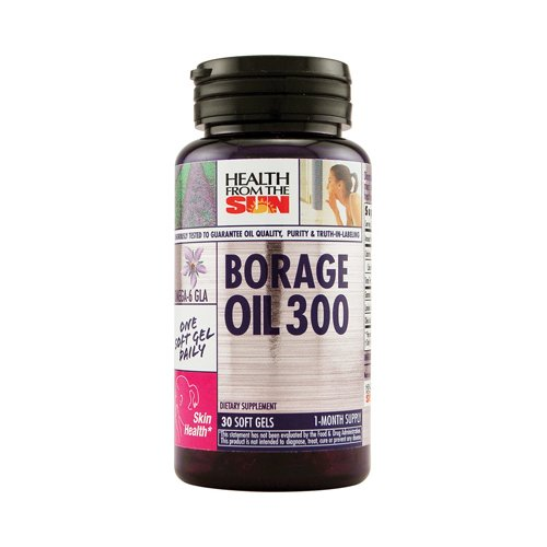 Borage Oil 300mg Health From The Sun 30 Caps -
