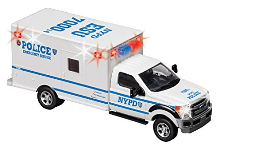Daron Worldwide Trading NYPD Esu Emergency Service Unit 1/48 with Working Emergency Lights Die Cast Truck ()