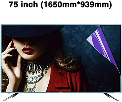 LED Non-Glare Anti-Blue Light Ultra-Clear Protector Film Anti-Scratch Eye Protection for LCD OLED /& QLED 4K HDTV,B CUUYQ 75 Inches TV Screen Protector