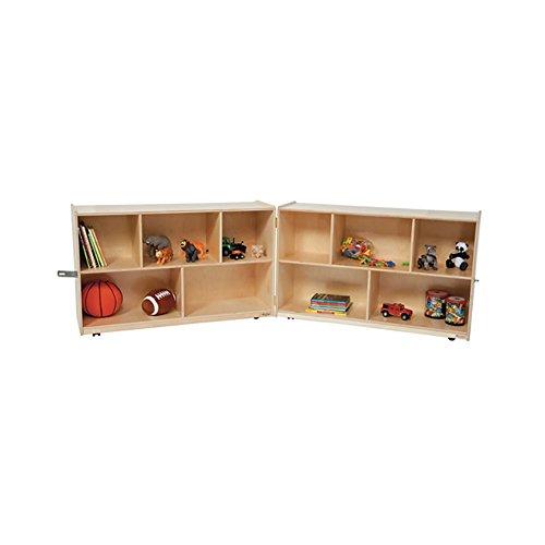 Wood Designs Kids Play Toy Book Plywood Organizer Wd13100 Folding Storage, 30''H by Wood Designs