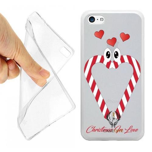 CUSTODIA COVER CASE CASEONE BASTONCINI ZUCCHERO LOVE PER IPHONE 5C OPACO