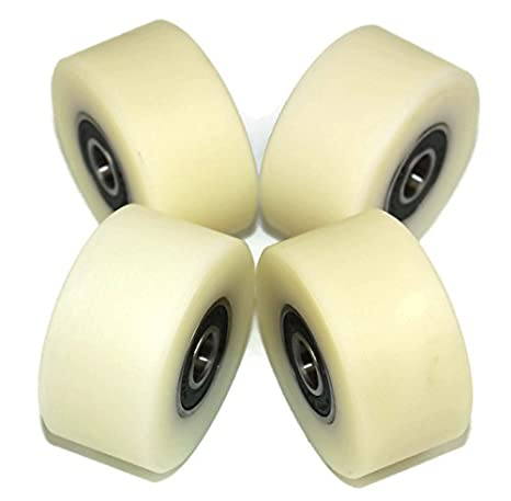 Pack of 4 x 50 mm Diameter Machined Nylon Wheels Made in the EU (10mm wide-10mm bearing) Smart Machines