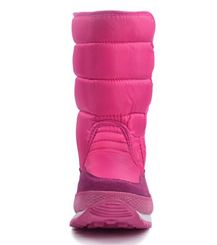Red Frosty Women's Boot Snow Waterproof Rose DADAWEN qwFPYEY