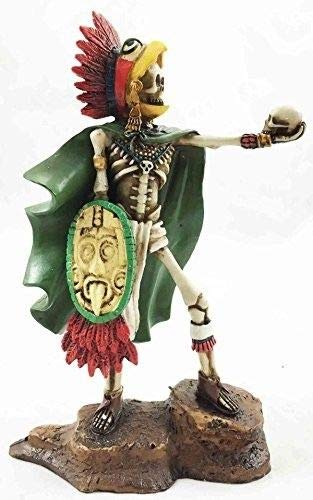 (ShopForAllYou Figurines and Statues Tenochtitlan Aztec Eagle Warrior Skeleton Day of The Dead Sculpture Figurine)