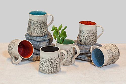SPECIAL OFFER of 12 handmade mug set, Large coffee Mug set, handmade tea cup set, Stoneware mug set, wheel thrown Cup, Pottery ceramic mug set, Birthday gift