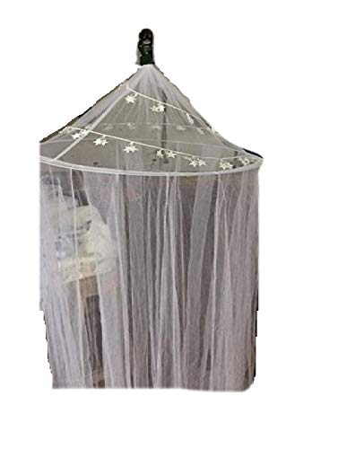 Hoop Bed Canopy Mosquito Net for Crib, Twin, Full, Queen or King Size Bed and Travel Camping Ourdoor Events (Cream) by FineHome
