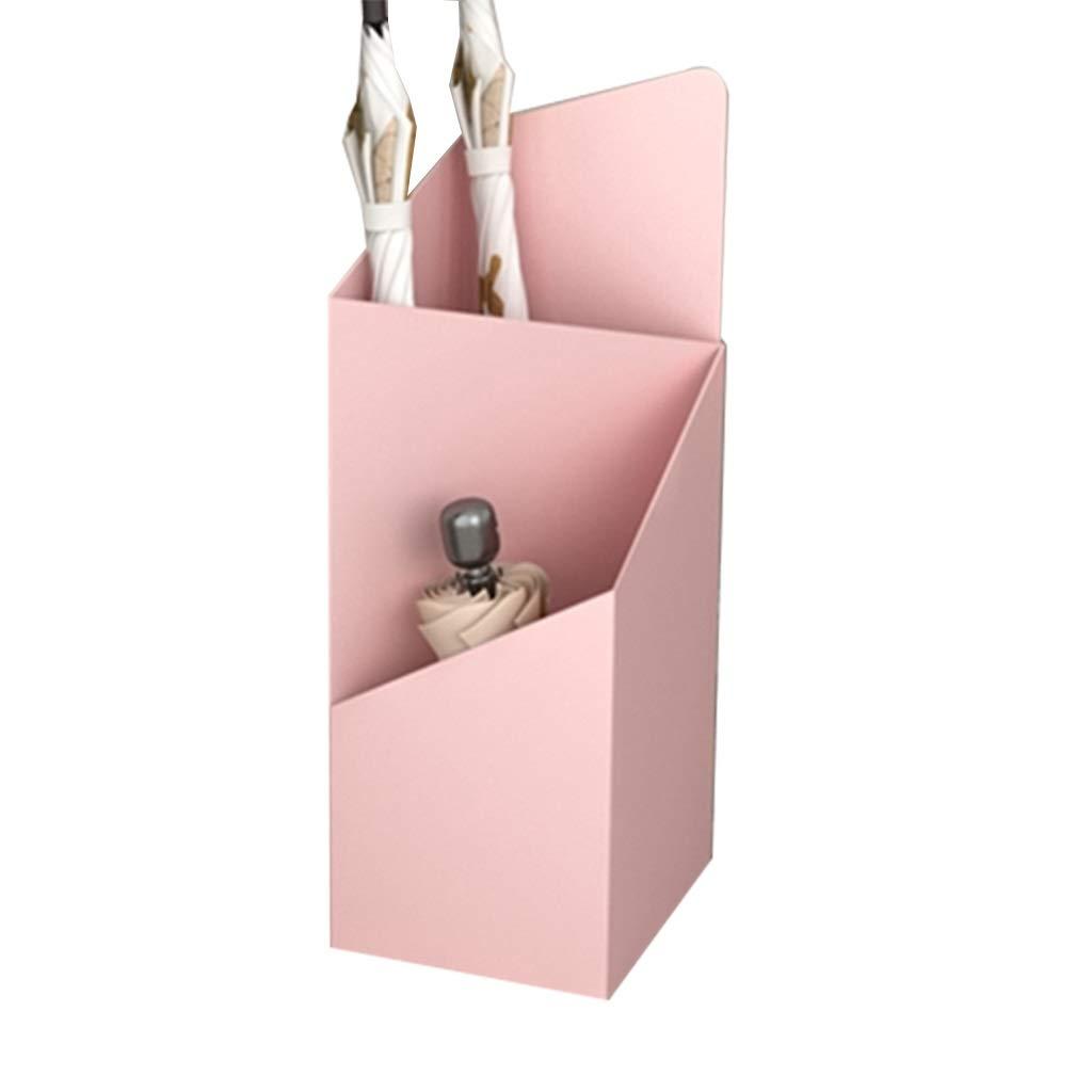 Pink 202560cm Umbrella Rack Umbrella Stand Storage Bucket Placement Frame Household Landing Umbrella Storage Rack Living Room Concierge CorridorIron Iron (color   Pink, Size   20  25  60cm)