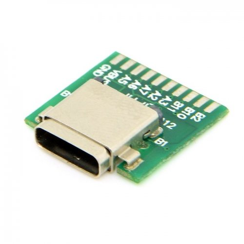 JSER DIY 24pin USB 3.1 Type C Male & Female Plug & Socket Connector SMT type with PC Board 1 set JSER