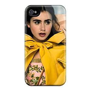 Pretty MHAyuUU8259eEDtC Iphone 4/4s Case Cover/ Lily Collins In Mirror Mirror Series High Quality Case