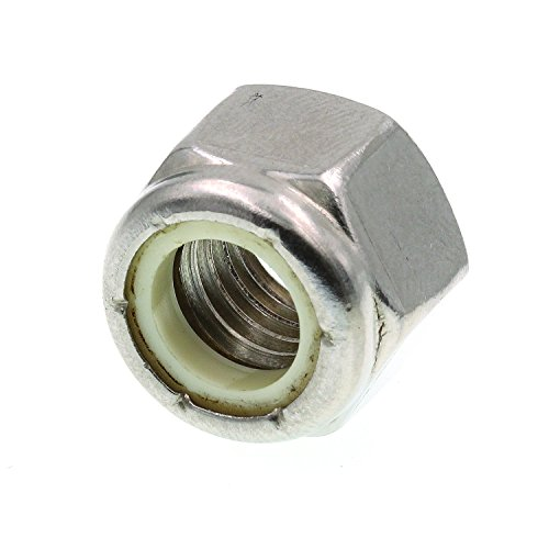 (Prime-Line 9075446 Nylon Insert Lock Nuts, 1/2 in.-13, Grade 18-8 Stainless Steel,)