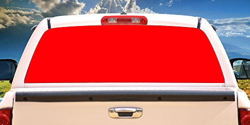 SignMission RED Rear Window Graphic Truck View Thru Vinyl Decal Back ()