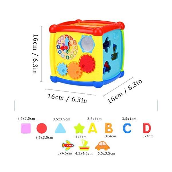 AiTuiTui Cubo attività Bambino, 6-in-1 Multifunzione Giochi Centri Educativi Prima Scatola di apprendimento Infanzia… 4