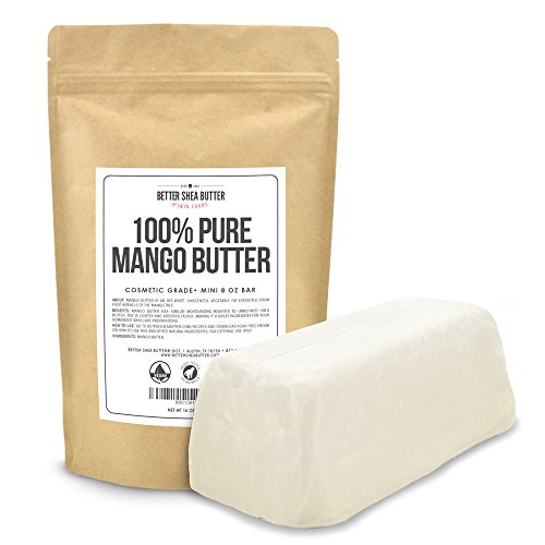 Mango Butter by Better Shea Butter - Pure & Fresh - Amazing Moisturizer, Use Alone or in DIY Body Butters, Soaps, Lotions and More - Lighter Consistency than Shea Butter - Unscented - 1 lb (16 oz)