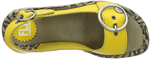 FLYA4|#Fly London Tram723fly, Heels Sandals para Mujer Amarillo (Lemon 007)