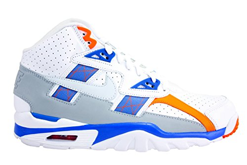 NIKE Mens Air Trainer SC High Shoes White/Pure Platinum/Hyper Cobalt 302346-122 Size 10.5