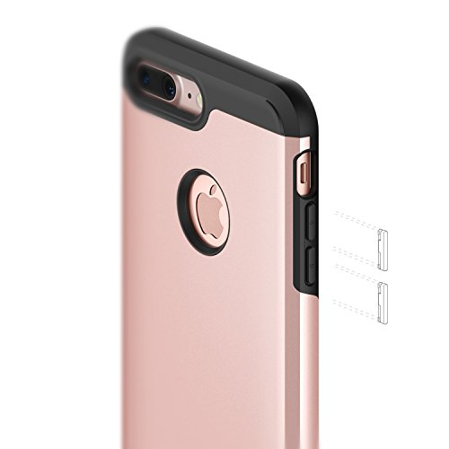 reputable site ffd8f 9f4f0 Caseology Legion for Apple iPhone 7 Plus Case (2016) - Dual-Layer Armor -  Rose Gold