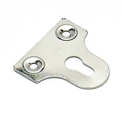 paquete de 25 Bulk hardware BH03554-25 mm con ranuras de lat/ón plateado placa de cristal