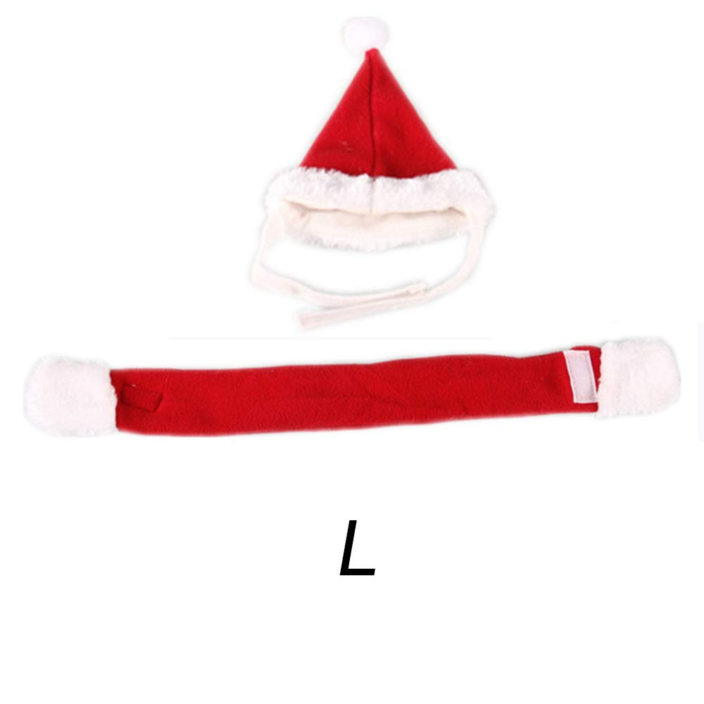 Loweryeah L 3A Bandage Red Suit, Jai Zai Dog Hat, Pet Products, Lovely Handsome, Christmas Red Dog Set -1 Set.