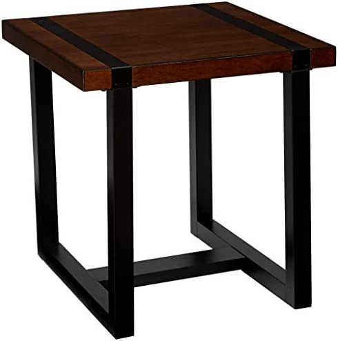 Lane Home Furnishings End Table, Warm Oak Charcoal