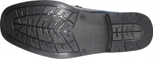 Bootsschuhe Segelschuhe Halbschuhe aus echtleder Rindsleder Schuhe schwarz