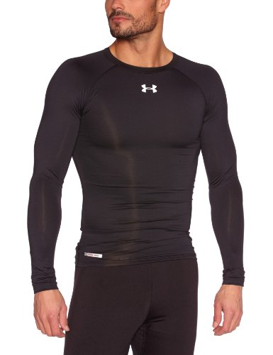 Under Armour Herren Top HG Sonic Compression Long Sleeve, Black, S