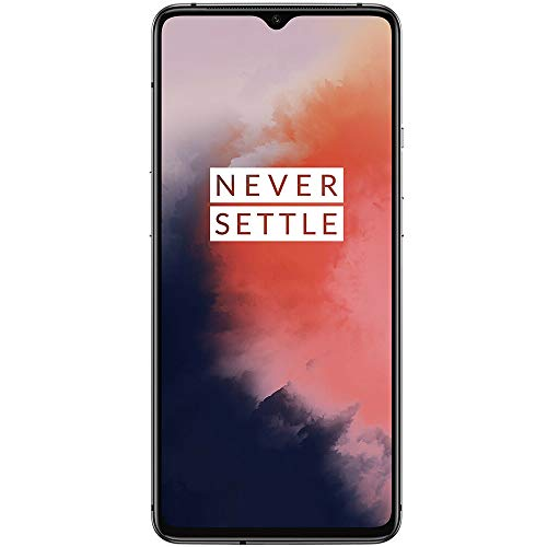 "OnePlus 7T 6.55"" HD1907 Single Sim GSM Unlocked Smartphone (Renewed) (Frosted Silver, 128GB)"
