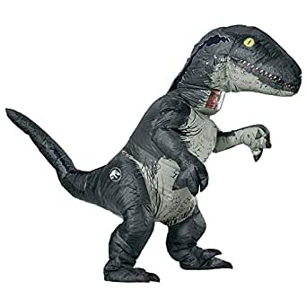 Rubie's Inflatable Velociraptor 'Blue' Costume with Sound, Adult, One Size