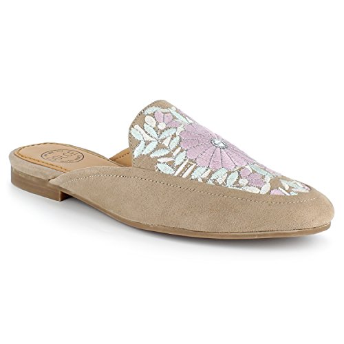 by Dolce Moxy Hanna Mojo Mules Taupe Embroidered Slide BH4qHw