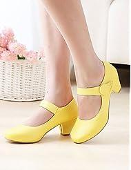 Women's Shoes Heel Heels / Round Toe Heels Outdoor / Dress / Casual Black / Yellow / Pink / Beige