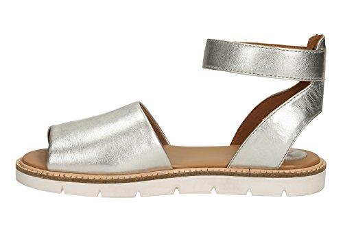 Sandalias y chanclas para mujer, color Plateado , marca CLARKS, modelo Sandalias Y Chanclas Para Mujer CLARKS LYDIE HALA Plateado blanco - blanco