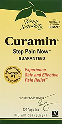 Terry Naturally Curamin Safe Effective Pain Relief with Clinically Studied BCM95 Curcumin 21 Caps