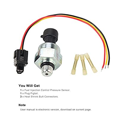 Ford 7.3 ICP Sensor with Pigtail Connector, Fits 1997-2003 Ford 7.3L Diesel Engines Powerstroke, Injection Control Pressure Sensor: Automotive