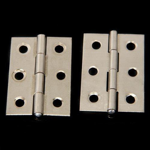 TOOGOO(R) 2pcs Acier inoxydable 2 pouces 4.4x3.1cm Porte de Cabinet Charnieres Quincaillerie SHOMAGT1605