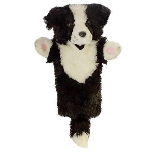 The Puppet Company Long-Sleeves Border Collie Hand Puppet (Black White Border Collie)