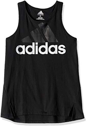 adidas Girls' Toddler Active Tank Tops, Shaped Black, ()
