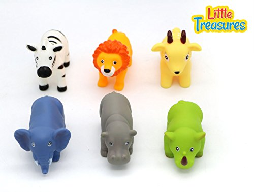 Bathtime Fun Bath Toys for babies of age 18+ months, includes 6 different water-squirting, floating animal friends, great way for kids to spend time in the (Floating Zoo)