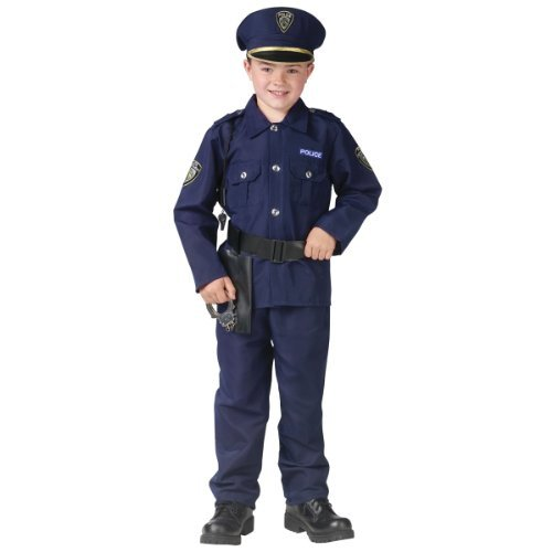 Fun World 113092L Little Boy's Large/Police Man Child Cstm Children's Costume, Large, Multicolor