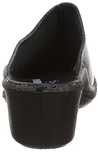 Romika Mokasso 304, Zapatillas de Estar por Casa para Mujer, 46 EU Negro (Schwarz 100)