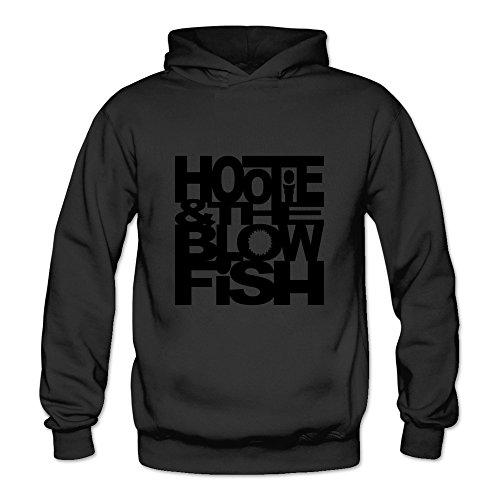 Crystal Men's Hootie & The Blowfish Long Sleeve Sweatshirt Pullover Hoodie Black US Size